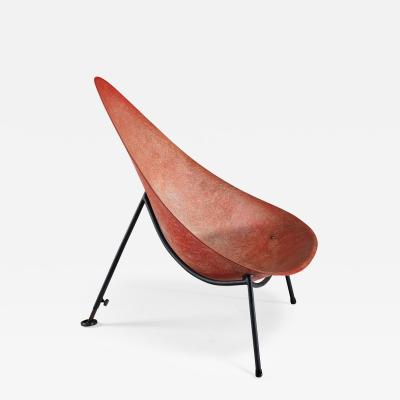 Merat Merat Early French fiberglass easy chair in red 1950s