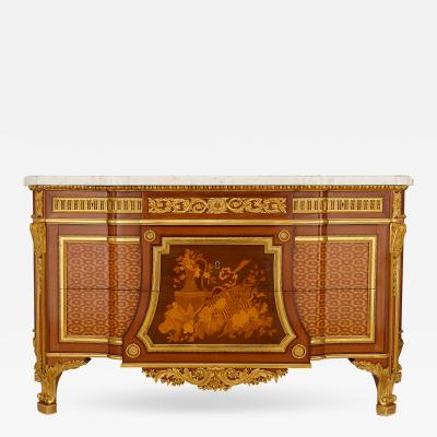 Mercier Fr res 19th Century ormolu and marquetry commode