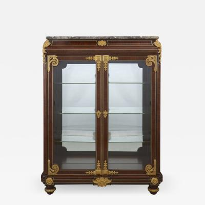 Mercier Fr res Neoclassical style gilt bronze mounted mahogany vitrine by Mercier Freres