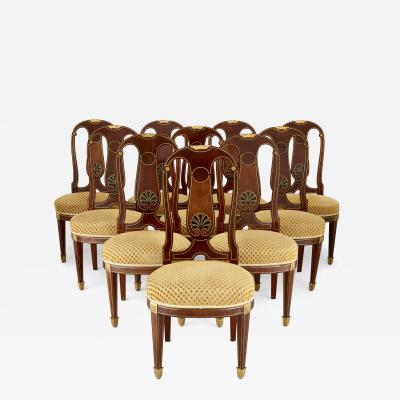 Mercier Fr res Set of antique French dining chairs by Mercier Freres