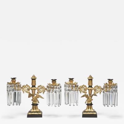 Messenger Phipson Pair of Regency Candelabra with Eagle Bases