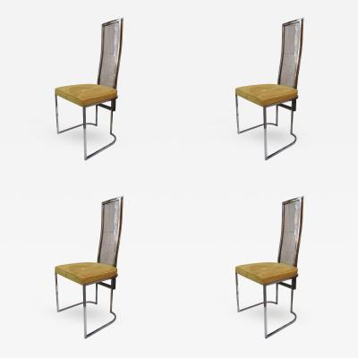 MetalArt 4 Chairs by Angolo Metal Arte Italy 1970