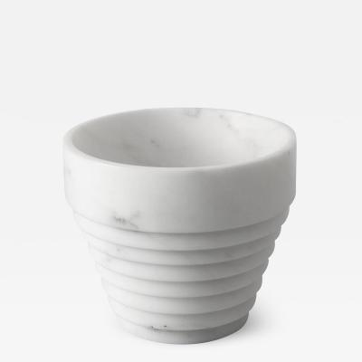 Michele Chiossi Guggenheim Pot Vase in White Michelangelo Marble