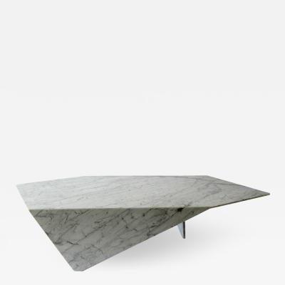 Minotti Italian Modern Carrara Marble Coffee Table Minotti