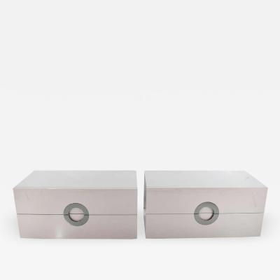 Minotti Pair of Minotti Archipenko Chests of Drawers or Nightstands