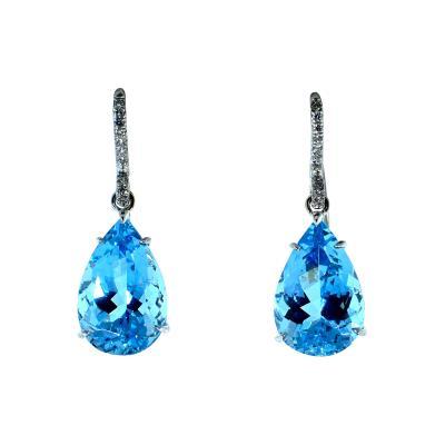 Mish New York Aquamarine and Diamond Earrings