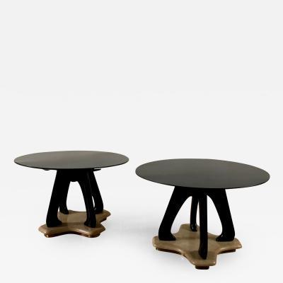 Mobilificio Dassi 1940s Pair of Round Side Tables by Dassi