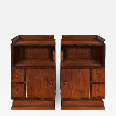 Mobilificio G B Scorza PAIR OF ART DECO NIGHTSTANDS ITALY 1930