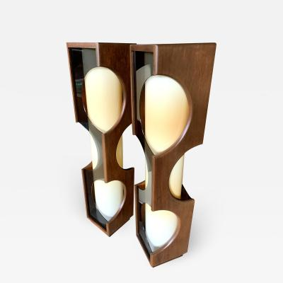 Modeline Modeline Monumental Mid Century Modern Lucite Lamps