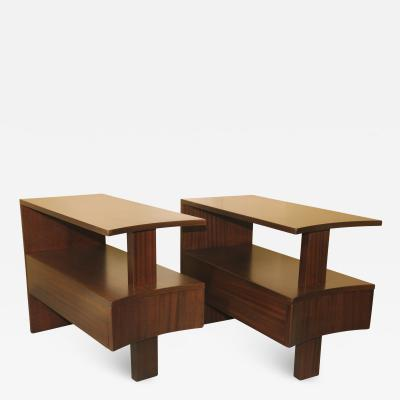 Modernage Furniture Company Modernage Africian Mahohany Side Tables