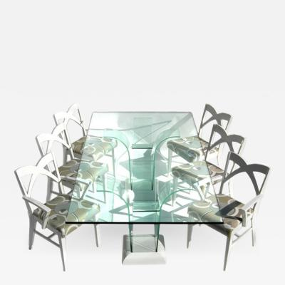 Modernage Furniture Company Modernage Glass Dining Table with Chairs