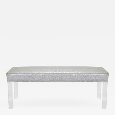Montage Prism Bench in Sharkskin Motif Leather by Montage