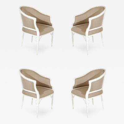 Monteverdi Young Set of Four Faux Bamboo Tub Chairs by Monteverdi Young