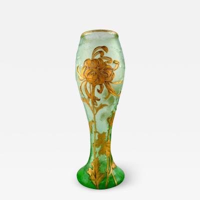 Montjoye Montjoye France Large art nouveau vase in mouth blown art glass