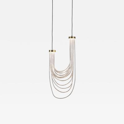 Morghen Studio Brass Light Pendant Double Cascade