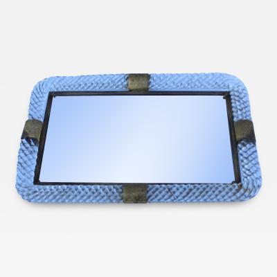 Murano 1940s Murano Glass Tray Vanity Mirror