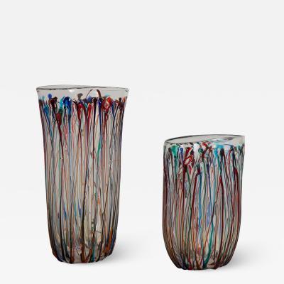 Murano Enrico Cammozzo Murano Glass Art Vases