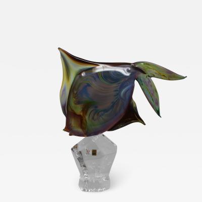 Murano Fantail Murano Glass Fish by Oscar Zanetti