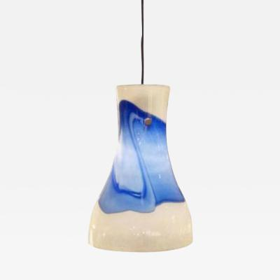 Murano Glass Sommerso A Hand Blown Hanging Light Fixture by Murano Glass