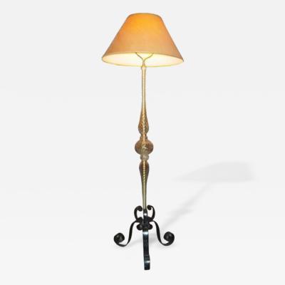 Murano Glass Sommerso A Mid Century Murano Glass Floor Lamp by Murano Glass