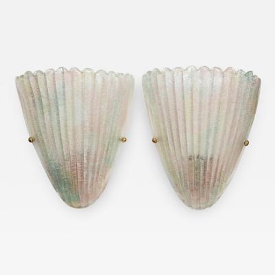Murano Luxury Glass MGL Murano Glass Shell Sconces