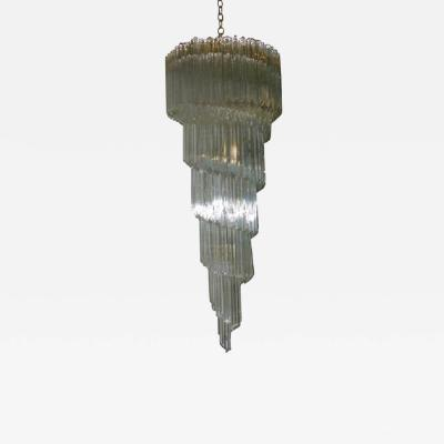 Murano Luxury Glass MGL Murano Glass Spiral Chandelier