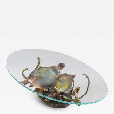 Murano Murano Glass Coffee Table with Turtles by Zanetti