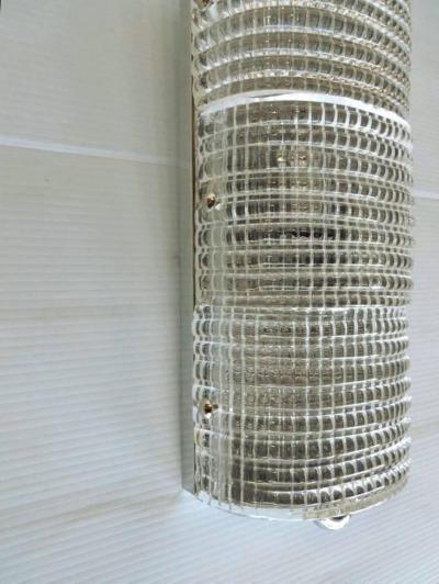 Murano Set of Six Italian Sconces w Clear Murano Glass Designed by Mazzega c 1960s