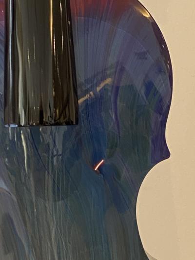 Murano Violin by Murano Glass Master Dino Rosin