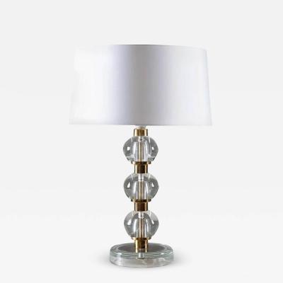 NAFA Midcentury Scandinavian Table Lamp in Brass and Glass