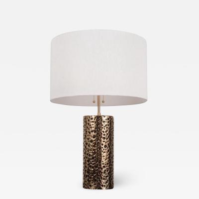 NAK Custom Hand Made Sand Cast Bronze Leopard Lamp by NAK