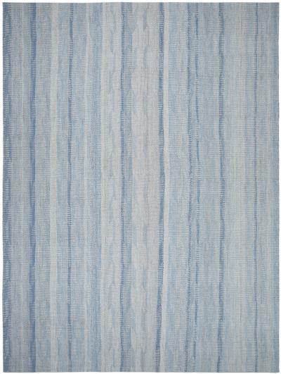 NASIRI Douro Flatweave Rug in Shades of Blue