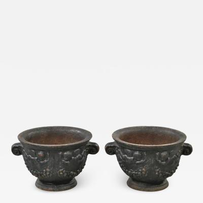 Nafveqvarns Bruk Pair of Urns by Na fveqvarns Bruk