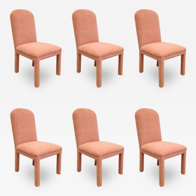 Nessen Studios Karl Springer Style Set of Six Dining Chairs in Ultrasuede