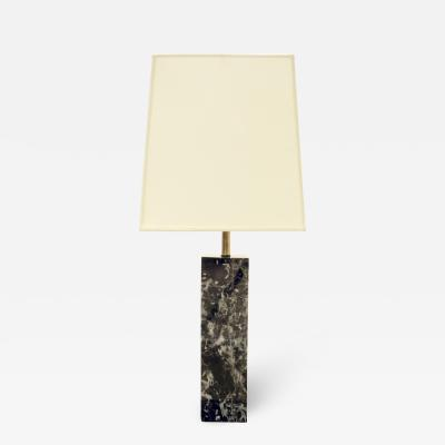Nessen Studios Nessen Block Table Lamp in Black Marble 1940s