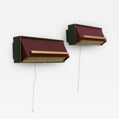 Neuhaus Leuchten Set of Two Elegant Bedside Sconces or Wall Lamps by Paul Neuhaus Germany 1950s