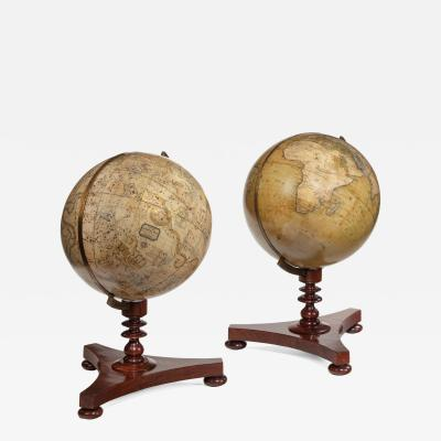 Newton Rare pair of Victorian 8 inch Table Globes by Newton