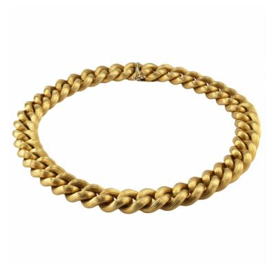 Nicolis Cola Chunky 18 Karat Yellow Gold Link Necklace by Nicolis Cola