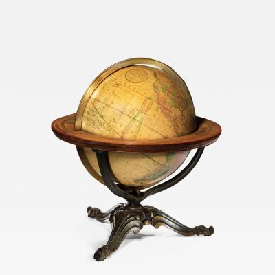 Nims Co A 12 inch Franklin terrestrial table globe by Nims Co New York