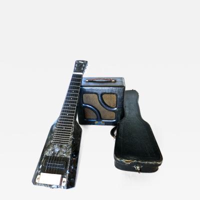 Nioma Company Hawaiian Lap Top Guitar by Nioma Circa 1937 with Amp by Magnatone Circa 1947