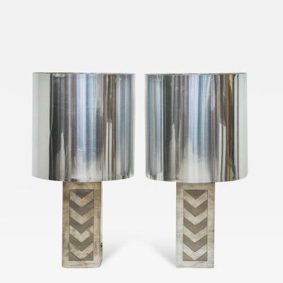 Noel BC Italian 1970s Chevron Lamps