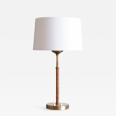 Nordiska Kompaniet Braided Leather NK Table Lamp