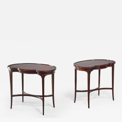 Nordiska Kompaniet Pair of free form Nordiska Kompaniet side tables Sweden 1945