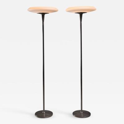 Nordiska Kompaniet Pair of tall Nordiska Kompaniet floor lamps
