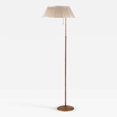 Nordiska Kompaniet Swedish Modern Floor Lamp in Brass