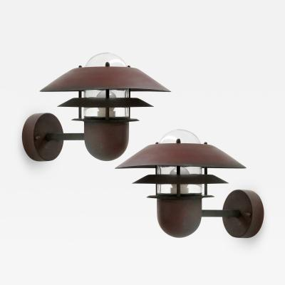 Nordlux Pair of Danish Outdoor Wall Lights by Nordlux