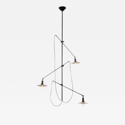 O C White Articulated Industrial Light Fixture by O C White