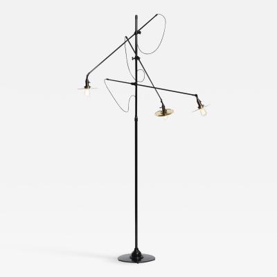 O C White O C WHITE ADJUSTABLE 3 ARM FLOOR LAMP