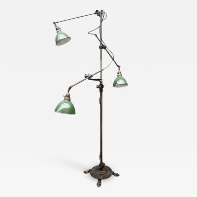 O C White O C White Industrial Three Arm Floor Lamp