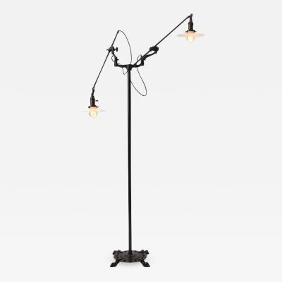 O C White Rare Industrial Floor Lamp by O C White